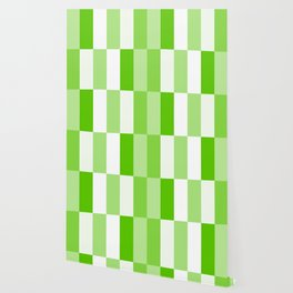 Green and white Block gradient Wallpaper