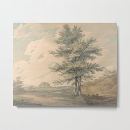 William Turner - Landscape with Trees and Figures Metal Print