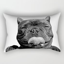 frenchie licking you Rectangular Pillow