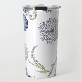 Winter Batic Flowers Travel Mug