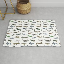 Various WW2 Planes Rug