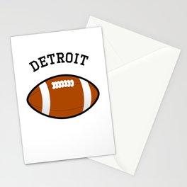 Detroit American Football Design black lettering Stationery Cards
