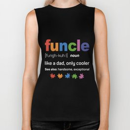 Funcle like a dad only cooler aunt Biker Tank
