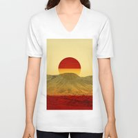 outdoor V-neck T-shirts featuring Warm abstraction by Stoian Hitrov - Sto