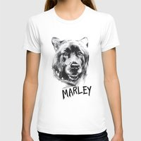 marley T-shirts featuring Marley by Megan Barr