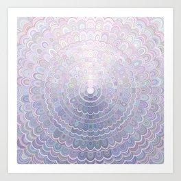 Pale Flower Mandala Art Print