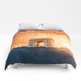 Sunset  Arc de Triomphe Comforters