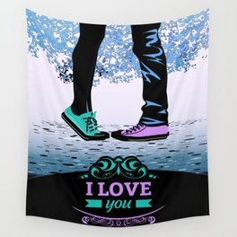 Couple Love massage texture Wall Tapestry