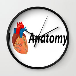 I Heart Anatomy Wall Clock