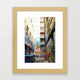 Melbourne Laneways Framed Art Print