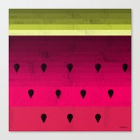 watermelon Canvas Prints featuring Watermelon by Kakel