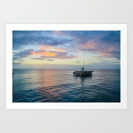 Sunset on the Atlantic Art Print