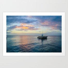 Sunset on the Atlantic Art Print