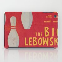 big lebowski iPad Cases featuring The Big Lebowski - Movie Poster by Stefanoreves