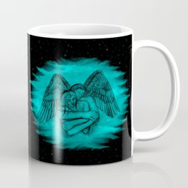 Amor , Eros - Angel and Woman in Love , Nude Coffee Mug