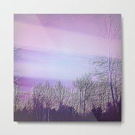Lavender Dusk Landscape | Nadia Bonello Metal Print