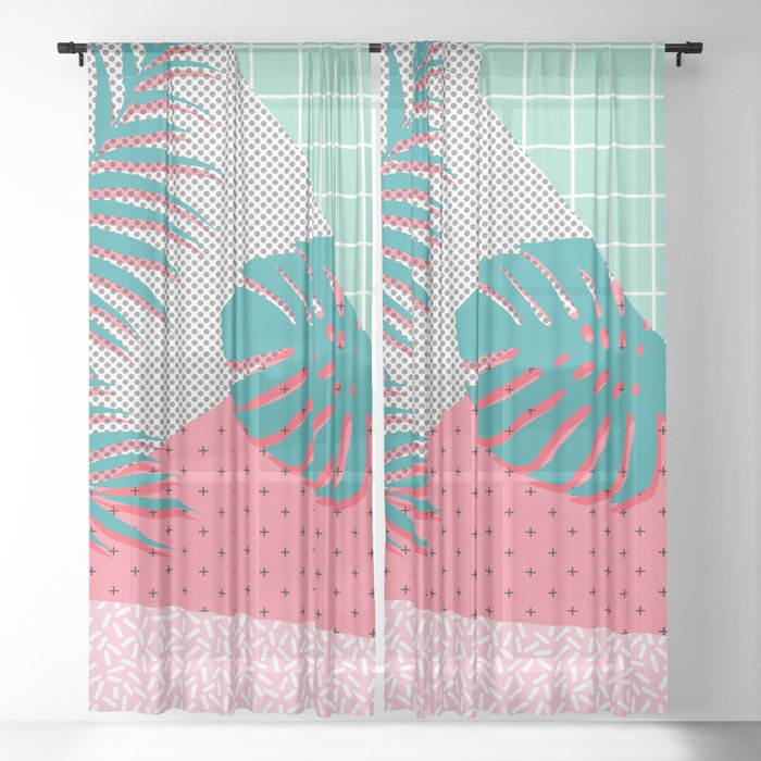 Santa Monica #society6 #decor #buyart Sheer Curtain