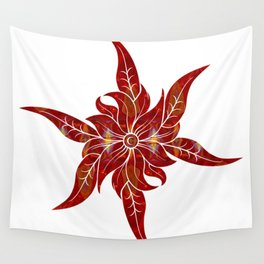 Red Flower Fantasy Designs Abstract Holiday Art  Wall Tapestry