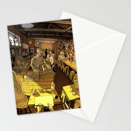 Monk bodhi dharma Stationery Cards
