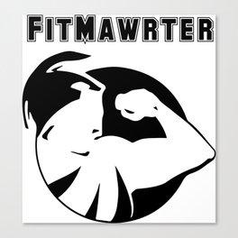 FitMawrter Design in Black Canvas Print