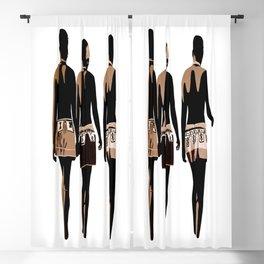 zulu sisters Blackout Curtain