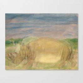 The Last Rhino Canvas Print