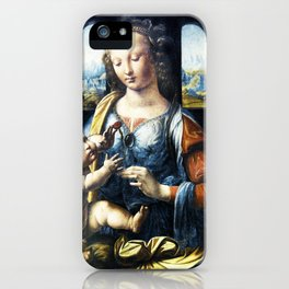 Madonna and child - Leonardo Da Vinci iPhone Case