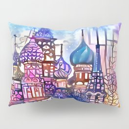 Twilight Stained Glass Saint Basil's Pillow Sham