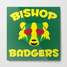 Bishop Badgers Love Metal Print
