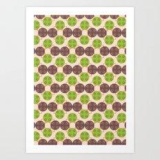 70s Inspired Pattern Art Print