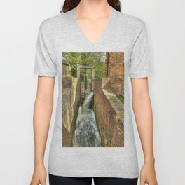Sluice Gate at the Water mill Unisex V-Neck