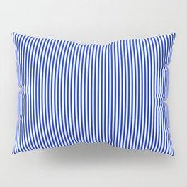 Cobalt Blue and White Vertical Nautical Sailor Stripe Pillow Sham