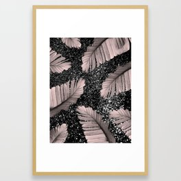 Banana Leaves Glitter Glam #4 #shiny #tropical #decor #art #society6 Framed Art Print