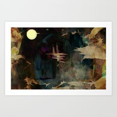 Darkness In The Old City Art Print