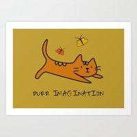 Purr Imagination Art Print