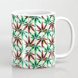 WEED LOVE, BURGUNDY RED GREEN Cannabis Smoke Marijuana Coffee Mug