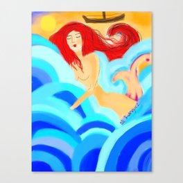 Juegos de Sirenas Canvas Print