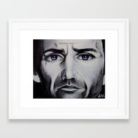 be brave Framed Art Prints featuring BRAVE by John McGlynn