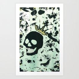 Last Laughing Skull Art Print