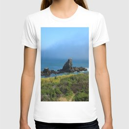 Rocks In The Sea At Pigeon Point T-shirt