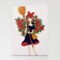 kiki Stationery Cards featuring Kiki by Javiera Esquer