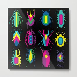 beetle brooches Metal Print