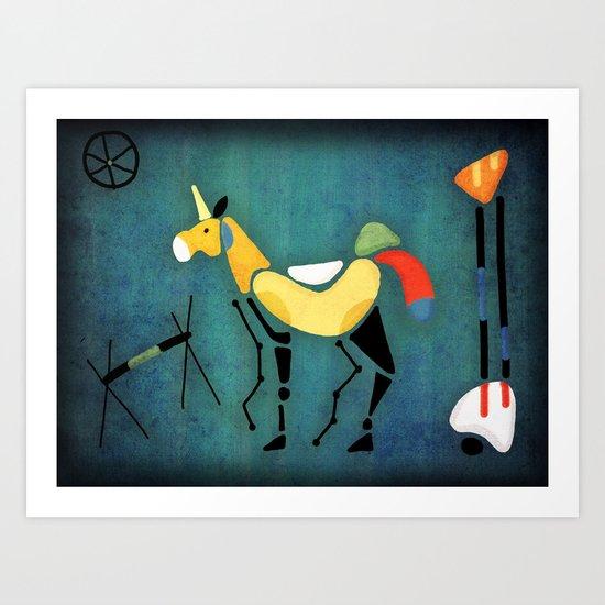 Surrealist Unicorn Art Print