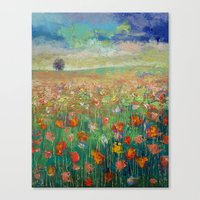 dancing Canvas Prints featuring Dancing by Michael Creese