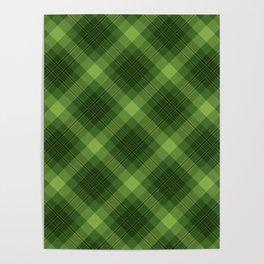 Green Plaid Pattern Poster