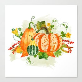 Pumpkin Bouquet Canvas Print