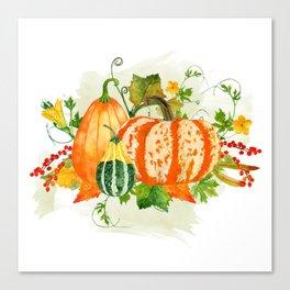 Pumpkin Bouquet Canvas Print