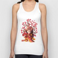 sakura Tank Tops featuring Sakura by Asura Art