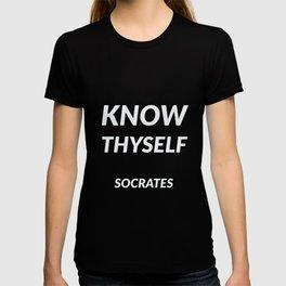 Know thyself - Socrates T-shirt