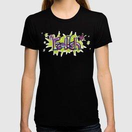 FN Foolish Graffiti Art purple T-shirt